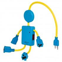 Multicontacto de niño, 4 entradas, 16 AWG
