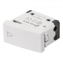 Interruptor para timbre, línea Oslo, color blanco