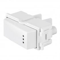 Interruptor sencillo con luz piloto, línea Italiana, blanco