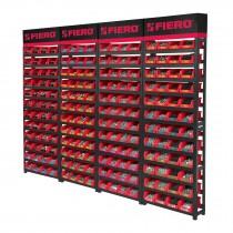 Rack modular para tornillos con 192 gavetas
