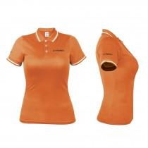 Playera polo dry fit para dama, color naranja