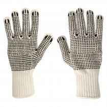 Guantes de algodón con puntos de PVC en palma y dorso, Pretul