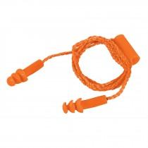 Tapón auditivo, reutilizable, triple barrera con cordón