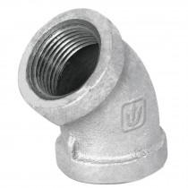 Codos 45° de acero galvanizado