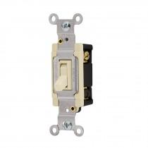 Interruptor vertical de palanca, 3 vías, Standard, marfil