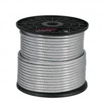 Cables de acero recubierto de PVC, 7 X 19 hilos, carrete plástico de 75 m