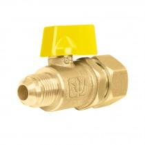 Válvula de control para gas de latón con barrilito