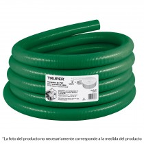 "Manguera para succión de agua, PVC, 4"", rollo 30m"