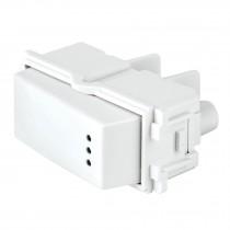 Interruptor de 3 vías con luz piloto, línea Italiana, blanco