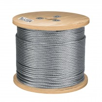 Cables de acero, 7 x 19 hilos, carrete de madera 300 m