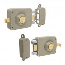 Cerraduras de sobreponer 2 barras, clásicas, llave tradicional