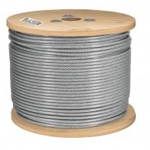 Cables de acero recubiertos de PVC, 7 X 19 hilos, carrete de madera de 300 m