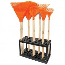 Rack de plástico para escobas