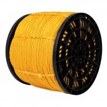 Cuerda torcida de polipropileno, amarilla, 4 mm x 2520 m