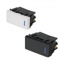 Interruptores sencillos, 1 módulo, línea Española