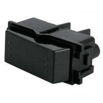Interruptor de 3 vías, línea Italiana, color negro