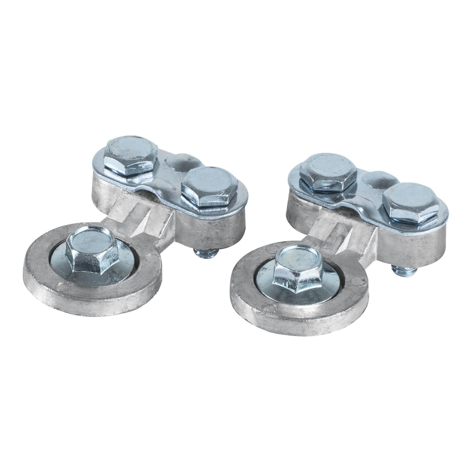 Juego terminales p/batería, poste lateral, plomo, Pretul
