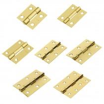 Bisagras rectangulares, acero latonado