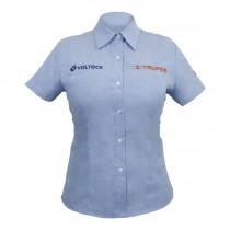 Camisas azules manga corta, para dama