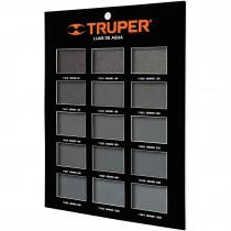 Exhibidor de lijas de agua, Truper