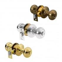 Cerraduras de pomo tipo oval, mecanismo cilíndrico, para baño
