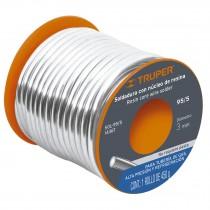 Soldadura con núcleo resina 95/5, tubería de gas, 450 g