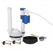 Juego de reparación para WC con válvula de ajuste y tornillos metálicos