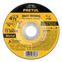 "Disco para desbaste de metal,tipo 27,diámetro 4-1/2"", Pretul"