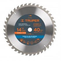 """Disco sierras diámetro 14"""", centro de 1"""", para madera"""