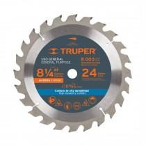 """Disco sierras diámetro 8 1/4"""", centro de 5/8"""", para madera"""