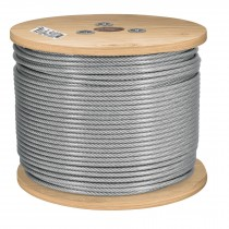 Cables de acero recubiertos de PVC, 7 X 19 hilos, carrete de 300 m