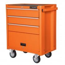 Gabinete metálico móvil, 4 cajones, capacidad 90 kg.