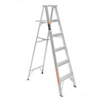 Escaleras tipo tijera 100% aluminio, 175 kg