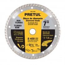 Discos diamante rin turbo, usos generales, Pretul