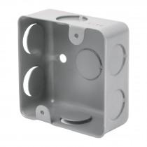 "Caja de acero cuadrada 3x3"", económica, Volteck"