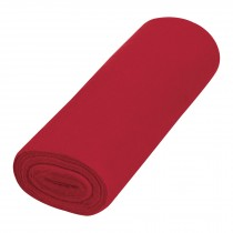 Franela roja de algodón, rollo 25 m