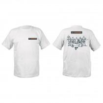 Camisetas estampadas color blanco 100% algodón, Truper