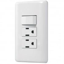 Placa armada 2 contactos e interruptor sencillo, Basic