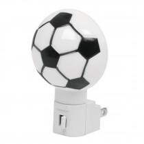 Luz de noche, balón soccer