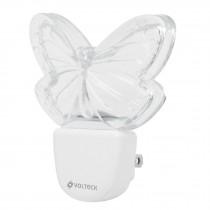 Luz de noche de LED, mariposa