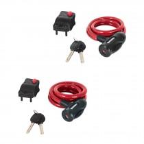 Candados de cable con llave, uso ligero, 1 m