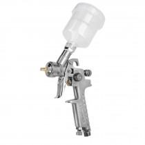 Pistola p/retoque gravedad, HVLP, vaso plástico, boquilla 1 mm