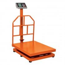 Báscula de plataforma, plegable, capacidad 500 kg.