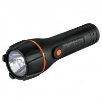 Linterna plástica, LED, luz directa, 2 pilas D, 180 Lm