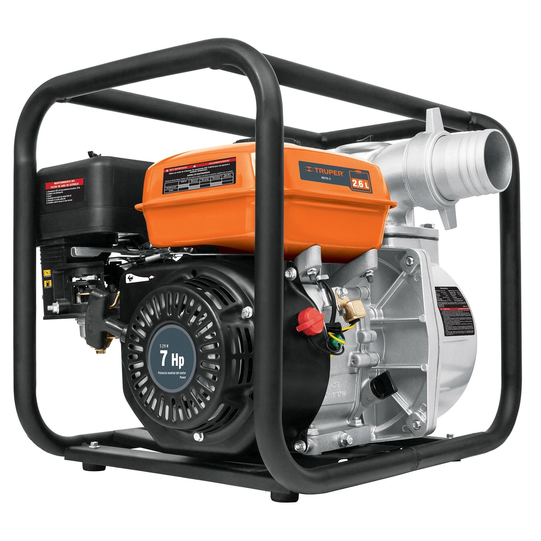 "Motobomba autocebante 3x3"", 7 HP, a gasolina"