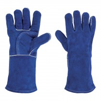 Guantes azules reforzados para soldador