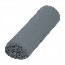Franela gris de algodón, rollo 25 m