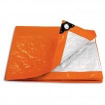Lonas naranjas, 110 g/m2, espesor de 0.14 mm, Pretul