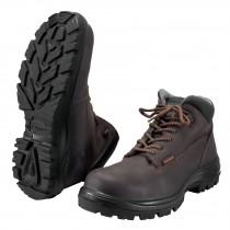 Zapatos industriales dieléctricos, cafés con casquillo
