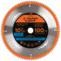 "Disco sierra p/aluminio 10"", 100dpp, centro 5/8"", Expert"